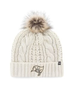 Tampa Bay Buccaneers Women's 47 Brand White Cream Meeko Cuff Knit Hat
