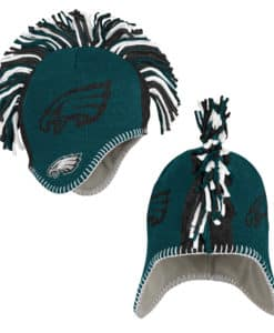 Philadelphia Eagles YOUTH Mohawk Midnight Green Knit Winter Hat