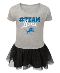 Detroit Lions TODDLER Baby Girls Gray Jumper Dress