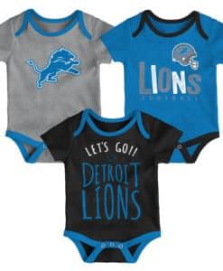 Detroit Lions 3 Pack Baby Onesie Creeper Set