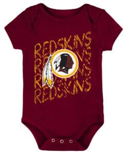 Washington Redskins Baby Burgundy Scribble Onesie Creeper