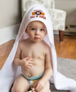 Houston Astros All Pro White Baby Hooded Towel