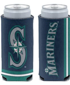 Seattle Mariners 12 oz Navy Slim Can Cooler Holder