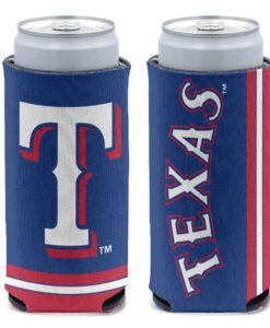 Texas Rangers 12 oz Blue Slim Can Cooler Holder