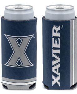 Xavier Musketeers 12 oz Navy Slim Can Cooler Holder