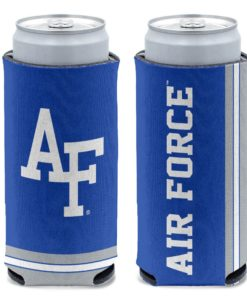Air Force Falcons 12 oz Blue Slim Can Cooler Holder