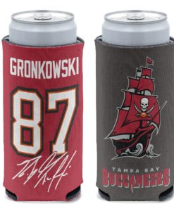 Tampa Bay Buccaneers Rob Gronkowski 12 oz Red Slim Can Cooler Holder