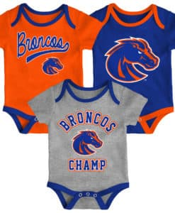 Boise State Broncos Baby 3 Pack Champ Onesie Creeper Set
