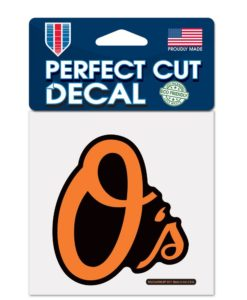 "Baltimore Orioles O's 4""x4"" Perfect Cut Color Decal"