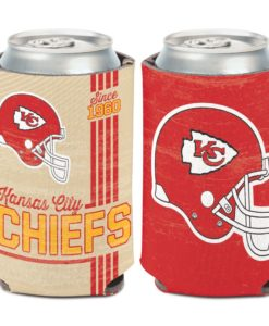Kansas City Chiefs 12 oz Red White Vintage Can Cooler Holder