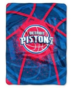 Detroit Pistons Blanket 60x80 Raschel Shadow Play Design