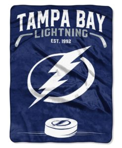 Tampa Bay Lightning 60x80 Inspired Raschel Blanket