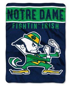 Notre Dame Fighting Irish 60x80 Raschel Blanket