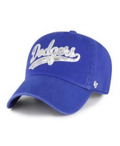 Los Angeles Dodgers Women's 47 Brand Sparkle Swoop Blue Clean Up Adjustable Hat