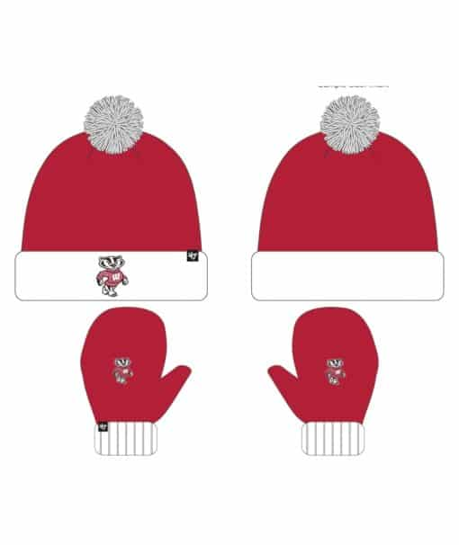 Wisconsin Badgers Bam Bam Set Red 47 Brand INFANT Hat