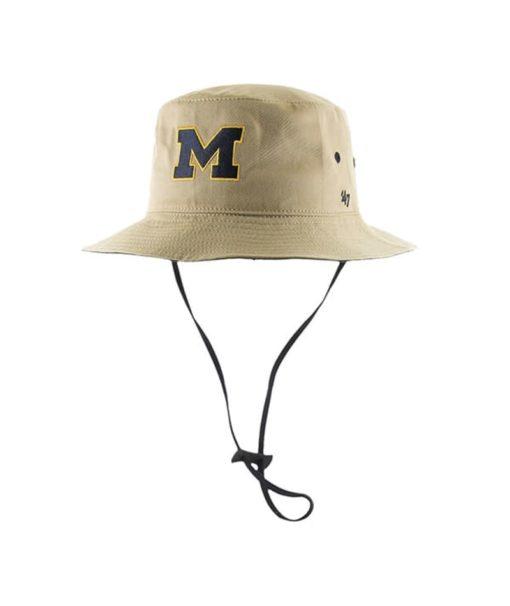 Michigan Wolverines 47 Brand Khaki Kirby Bucket Hat