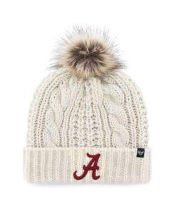 Alabama Crimson Tide Women's 47 Brand White Cream Meeko Cuff Knit Hat
