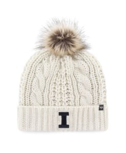 Illinois Fighting Illini Women's 47 Brand White Cream Meeko Cuff Knit Hat
