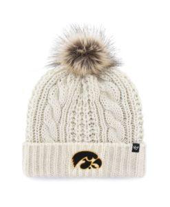 Iowa Hawkeyes Women's 47 Brand White Cream Meeko Cuff Knit Hat