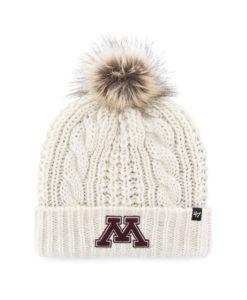 Minnesota Golden Gophers Women's 47 Brand White Cream Meeko Cuff Knit Hat