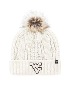 West Virginia Mountaineers Women's 47 Brand White Cream Meeko Cuff Knit Hat