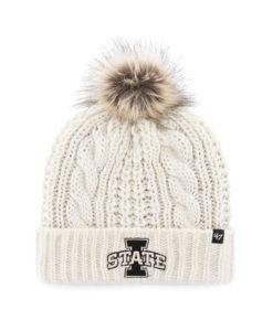 Iowa State Cyclones Women's 47 Brand White Cream Meeko Cuff Knit Hat