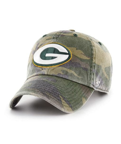 Green Bay Packers 47 Brand Camo Cargo Clean Up Adjustable Hat