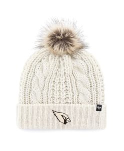 Arizona Cardinals Women's 47 Brand White Cream Meeko Cuff Knit Hat
