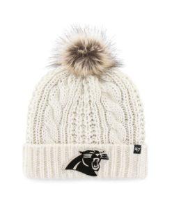 Carolina Panthers Women's 47 Brand White Cream Meeko Cuff Knit Hat