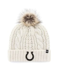 Indianapolis Colts Women's 47 Brand White Cream Meeko Cuff Knit Hat