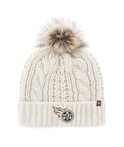 Tennessee Titans Women's 47 Brand White Cream Meeko Cuff Knit Hat