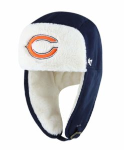 Chicago Bears 47 Brand Navy Trapper Knit Winter Hat