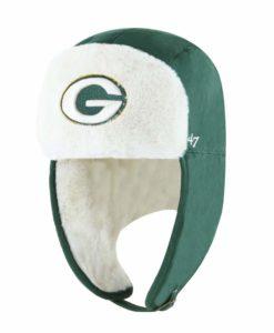 Green Bay Packers 47 Brand Dark Green Trapper Knit Winter Hat