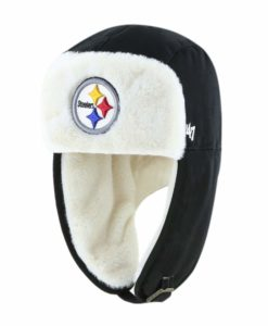 Pittsburgh Steelers 47 Brand Black Trapper Knit Winter Hat