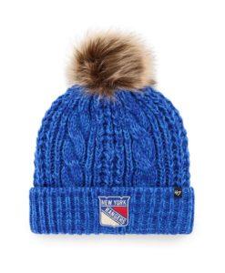 New York Rangers Women's 47 Brand Blue Meeko Cuff Knit Hat