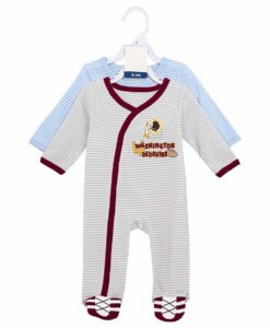 Washington Football Classic Baby Boys Button Up Sleeper Coverall 2 Piece Set