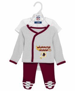 Washington Football Classic Baby Boys 3 Piece Creeper, Shirt and Pants Set