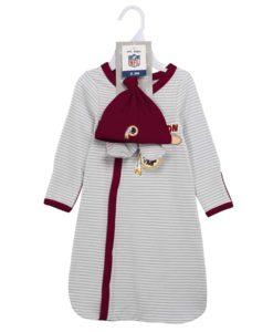 Washington Football Classic Newborn Baby Gown Beanie Bootie 3 Piece Set