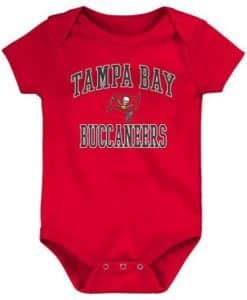 Tampa Bay Buccaneers Baby Red Onesie Creeper