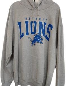 Detroit Lions Men's XXL Light Gray Pullover Hoodie