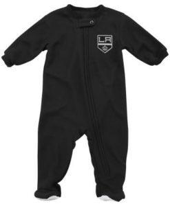 Los Angeles Kings Baby Black Zip Up Blanket Sleeper Coverall