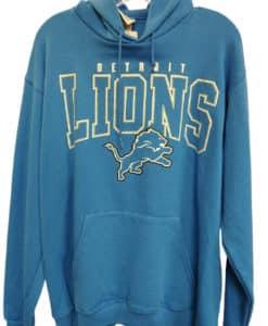 Detroit Lions Men's LARGE Blue Raz Pullover Hoodie