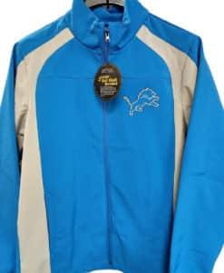Detroit Lions Men's SMALL Blue Raz Soft Shell Full Zip Jacket
