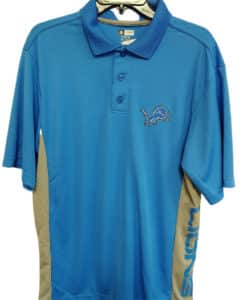 Detroit Lions Men's Blue Raz Logo TX3 Cool Polo Shirt