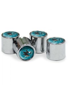 San Jose Sharks Tire Valve Stem Caps
