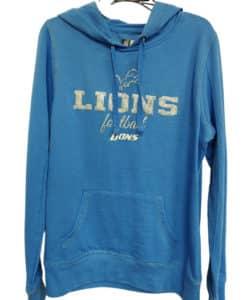 Detroit Lions Women's Shiny Blue Raz Lightweight Pullover Hoodie