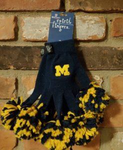 Michigan Wolverines Navy Spirit Fingerz Womens Stretch Gloves