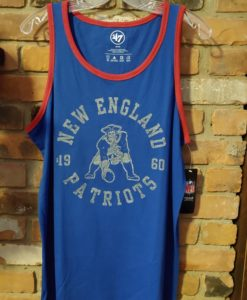 New England Patriots MEDIUM Men's Blue Tank Top