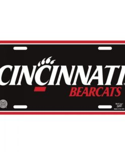 Cincinnati Bearcats Black Red License Plate