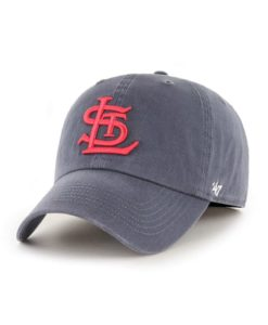 St. Louis Cardinals 47 Brand Cooperstown Vintage Navy Franchise Fitted Hat